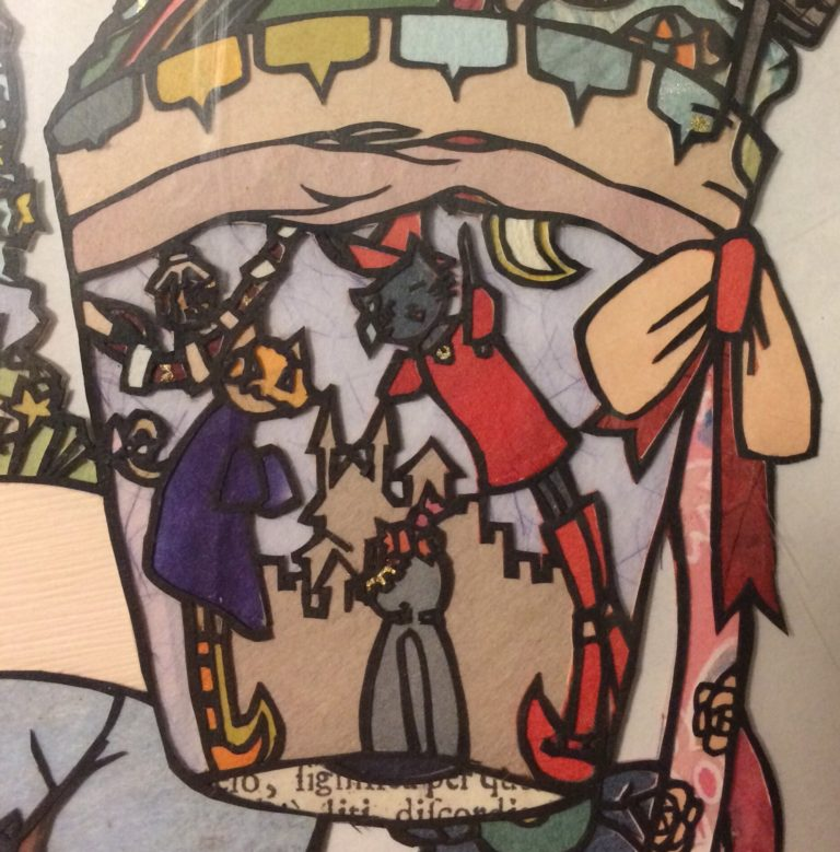 黒紙の猫イラストハロウィン部分