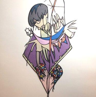 切り絵の制作動画04